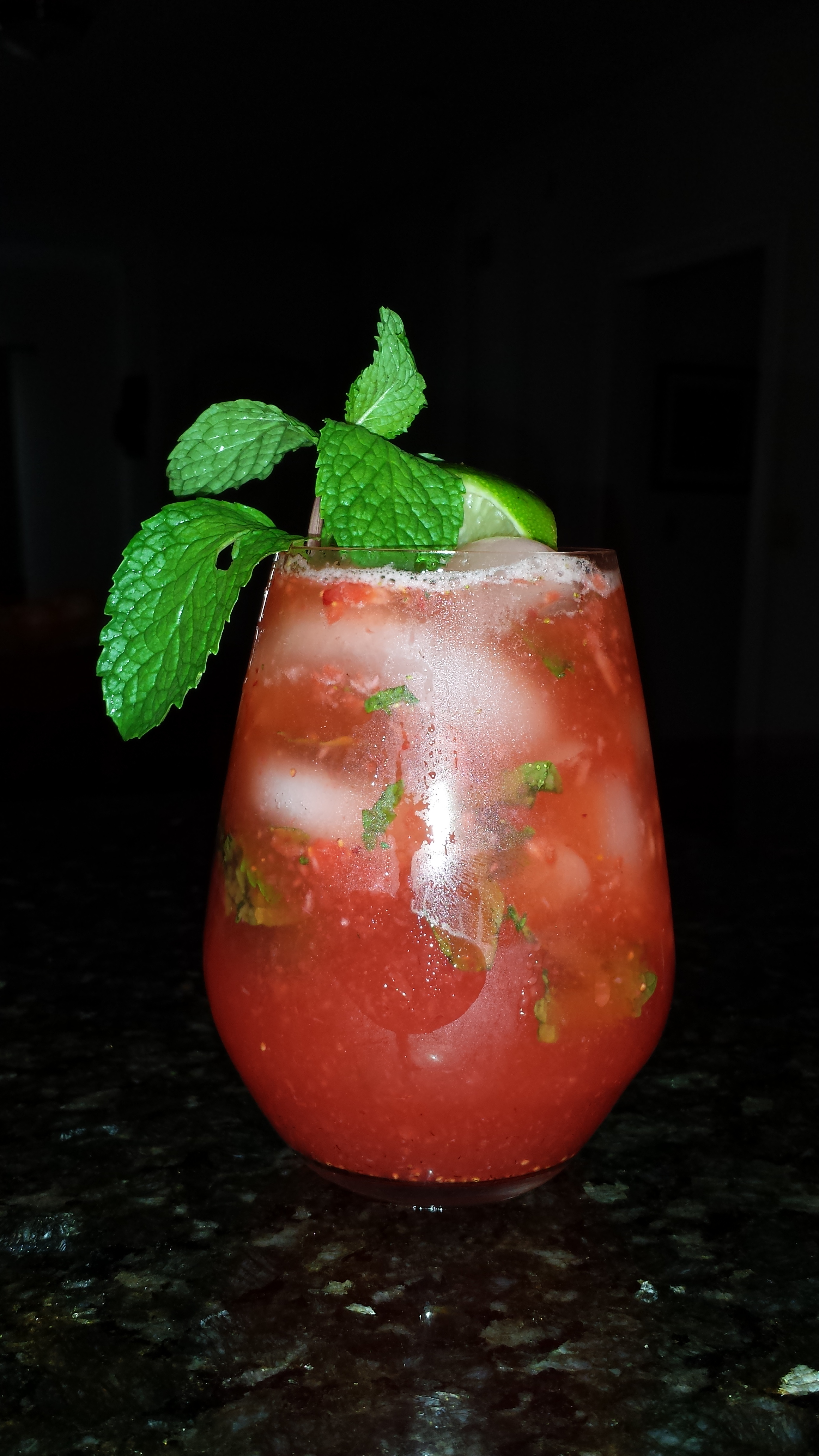 Strawberry Mojito [P.S. I totally should have removed that thumb print :)]