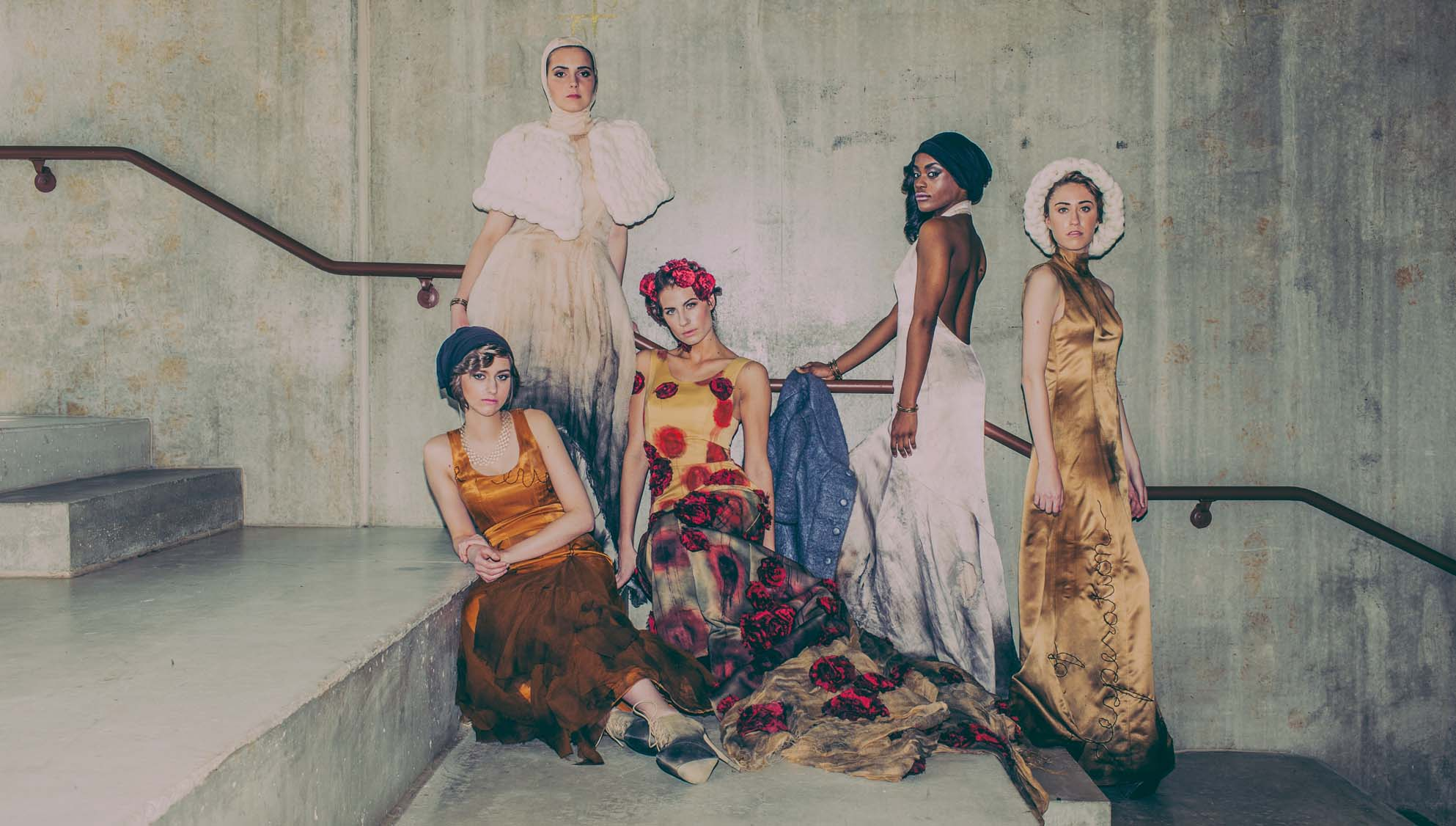 Photographer: Nick Fancher Models (L to R): Hannah Burns, Gabriella Giglio, Jess Hess, Brianna Herring, Lauren Metelitz
