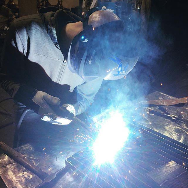 Wednesday night lines. #welding #class #mig