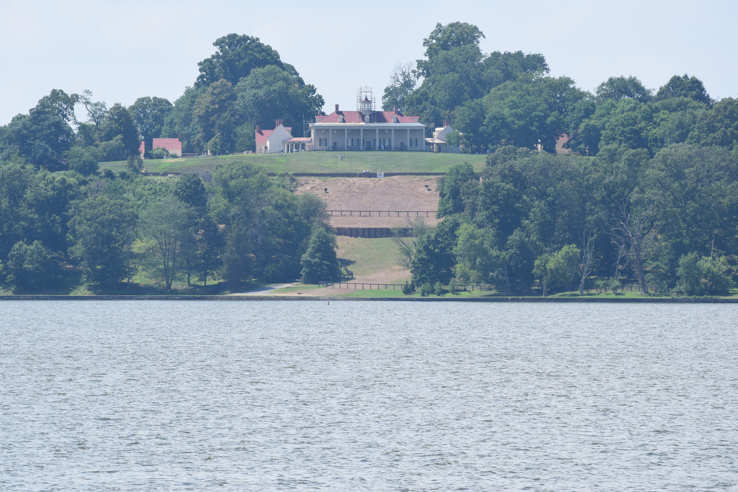 View of Mount Vernon from the Potomac. Image credit Jason Steinagle.