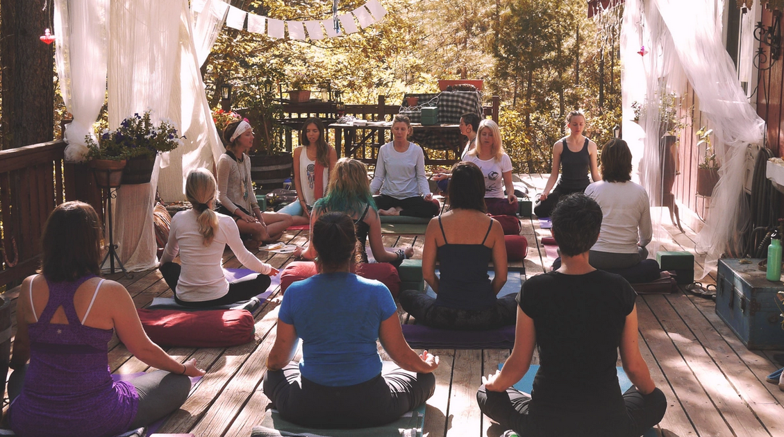 Morning asana and meditation
