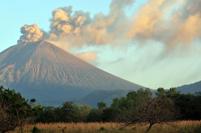 an active volcano in Nicaragua