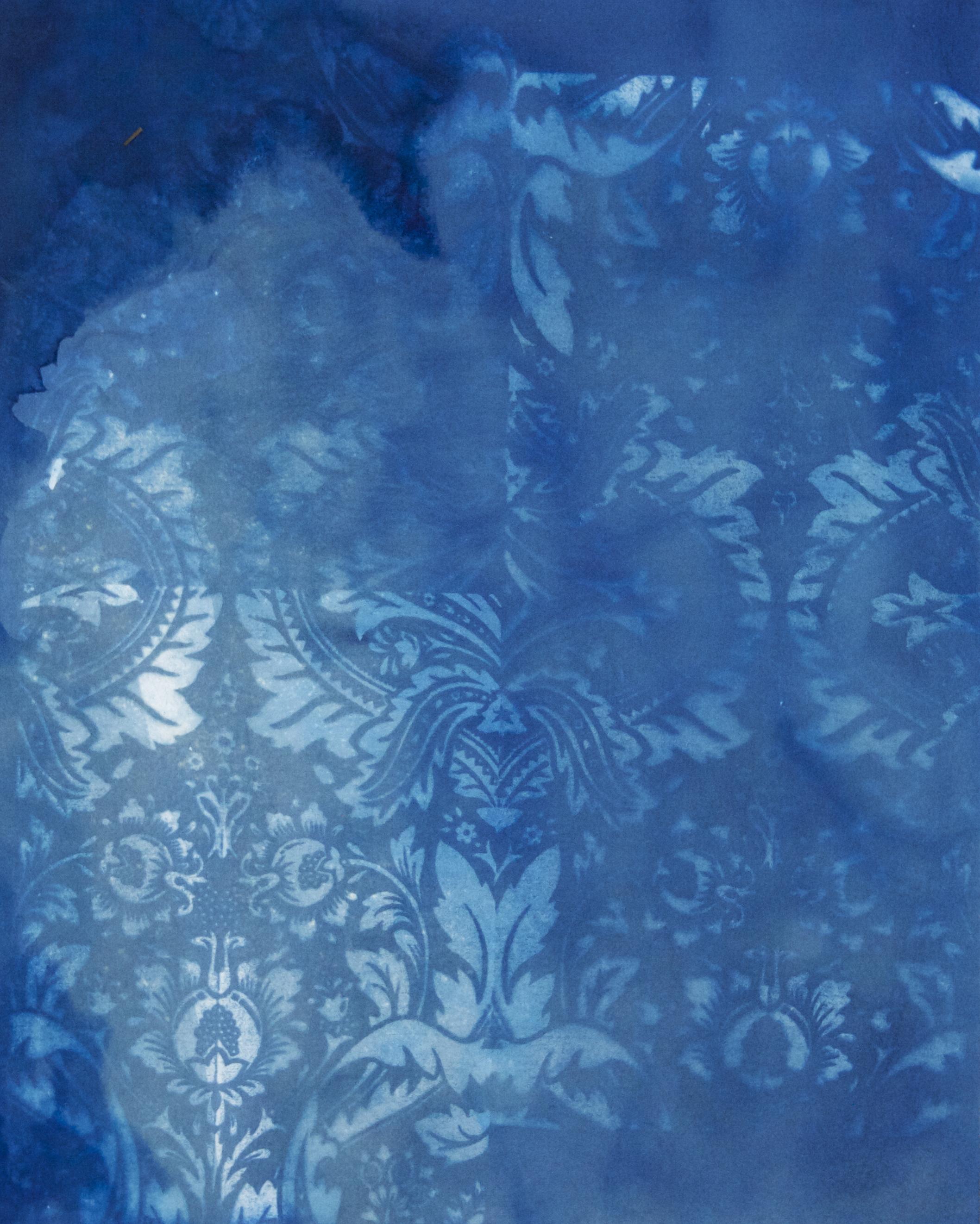 fading blue print