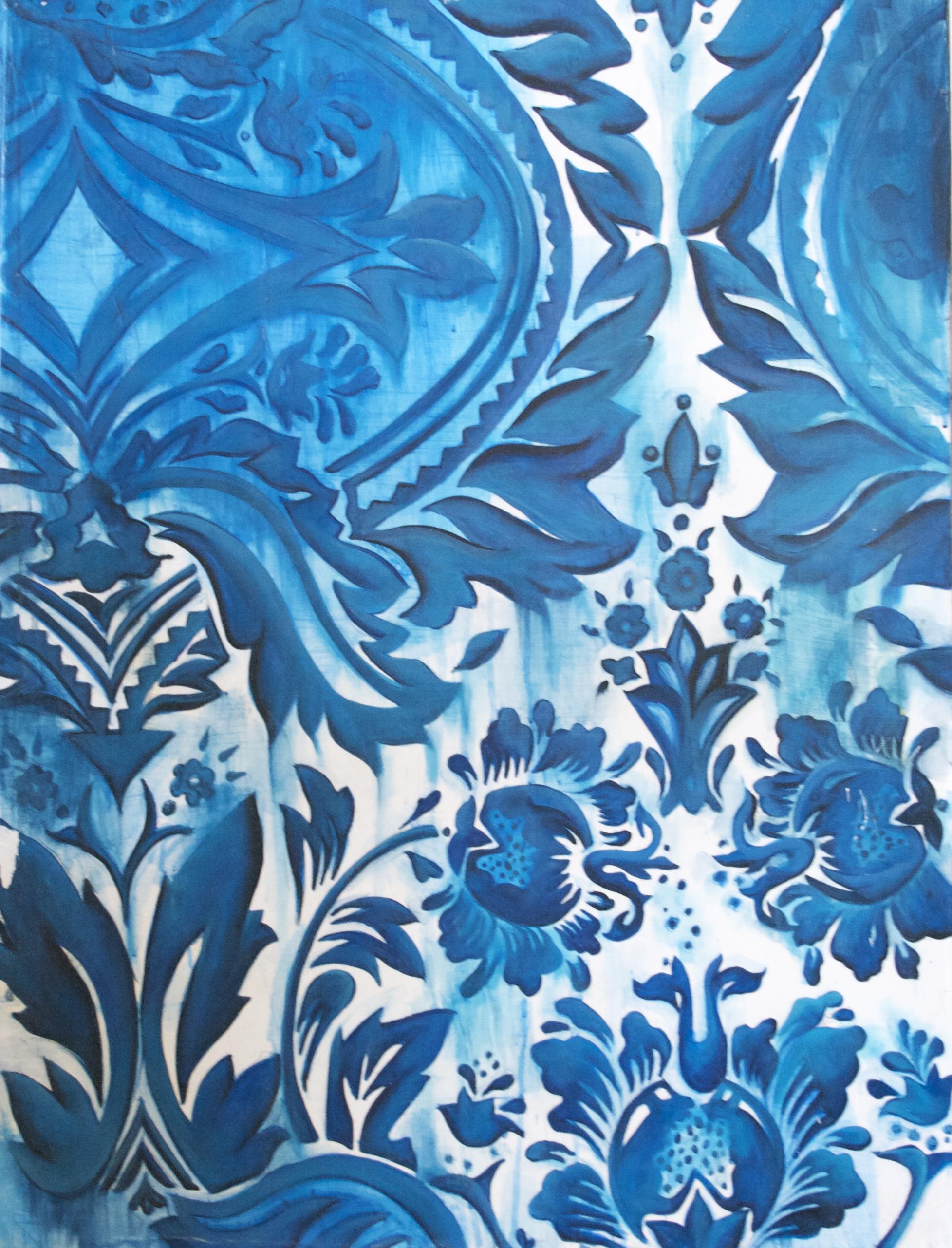 Distorted Blue Print