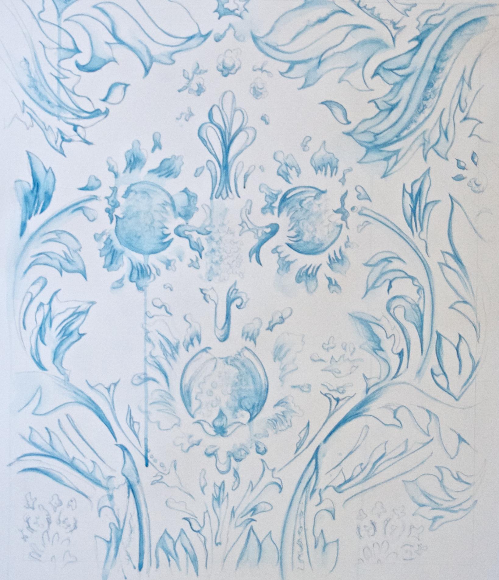 Light Blue Print Sketch