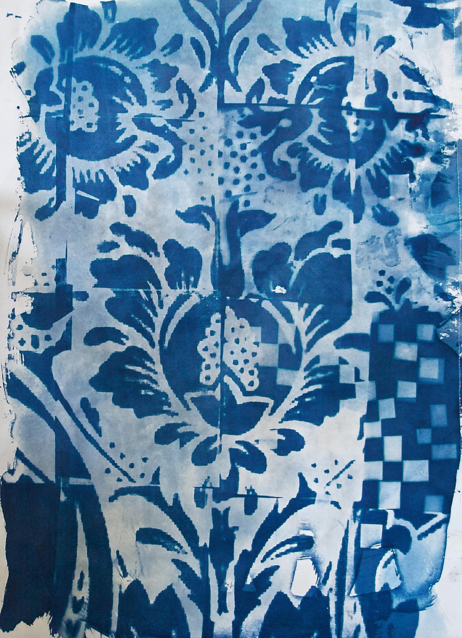 Grid Mark Blue Print