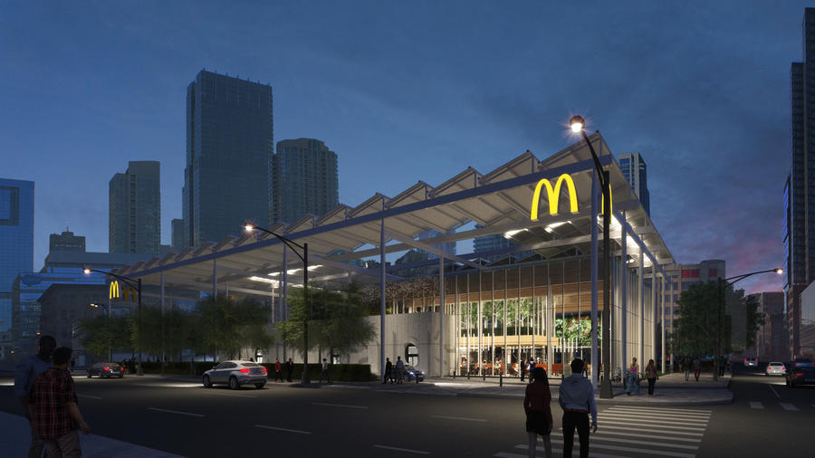 After, the McDonald's pavilion by Carol Ross Barney. Courtesy McDonald's