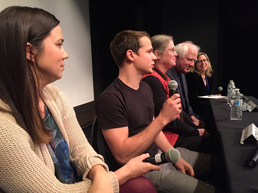 Rachel Debuque, Matt Jeffs, Laura and Rick Brown and Liza Rivo during Q&A on March 1st.