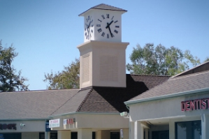 Pittsford - Clock tower cupola element at a shopping center