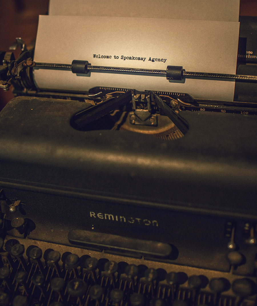 All Speakeasy Blog posts may or may not be hand-drafted on this 1930's Remington Typewriter.