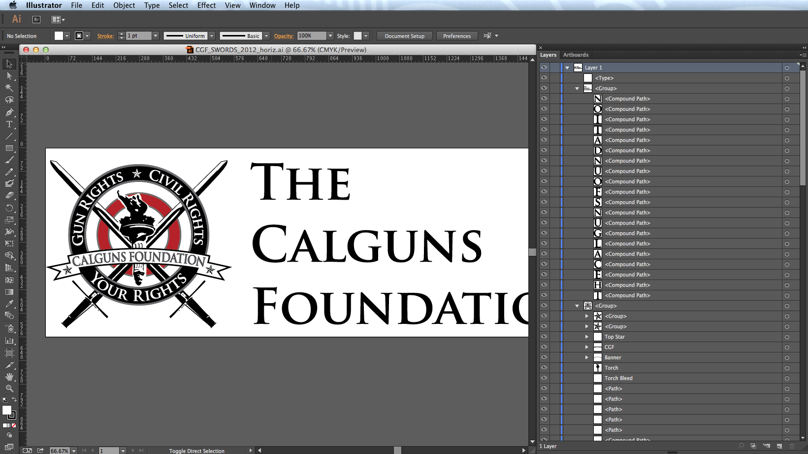 The original logo as supplied by the client in Adobe Illustrator
