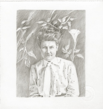 Willa Cather with Moonflower