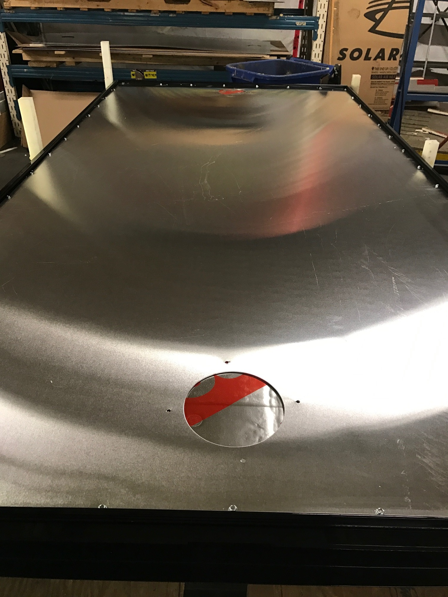 Aluminum back sheet added