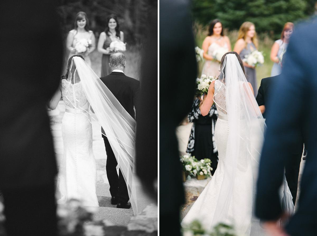 121-beaver-creek--bride--wedding-processional--dad--wedding--black-and-white.jpg