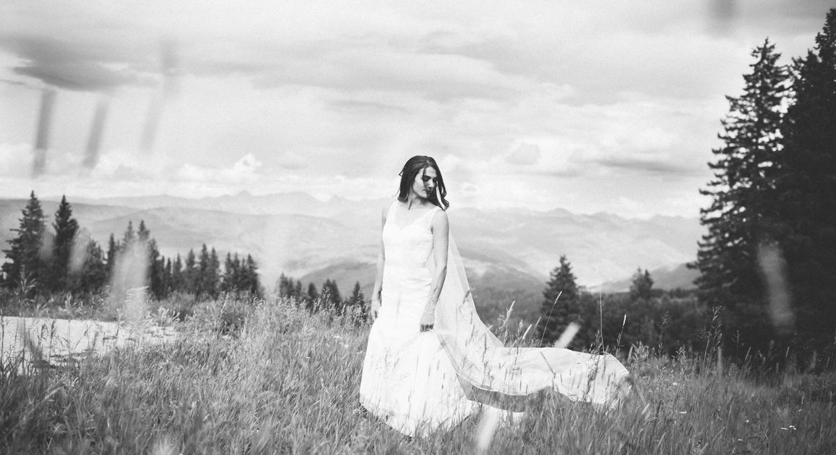 358-beaver-creek--bride--portrait--mountain-top--black-and-white.jpg