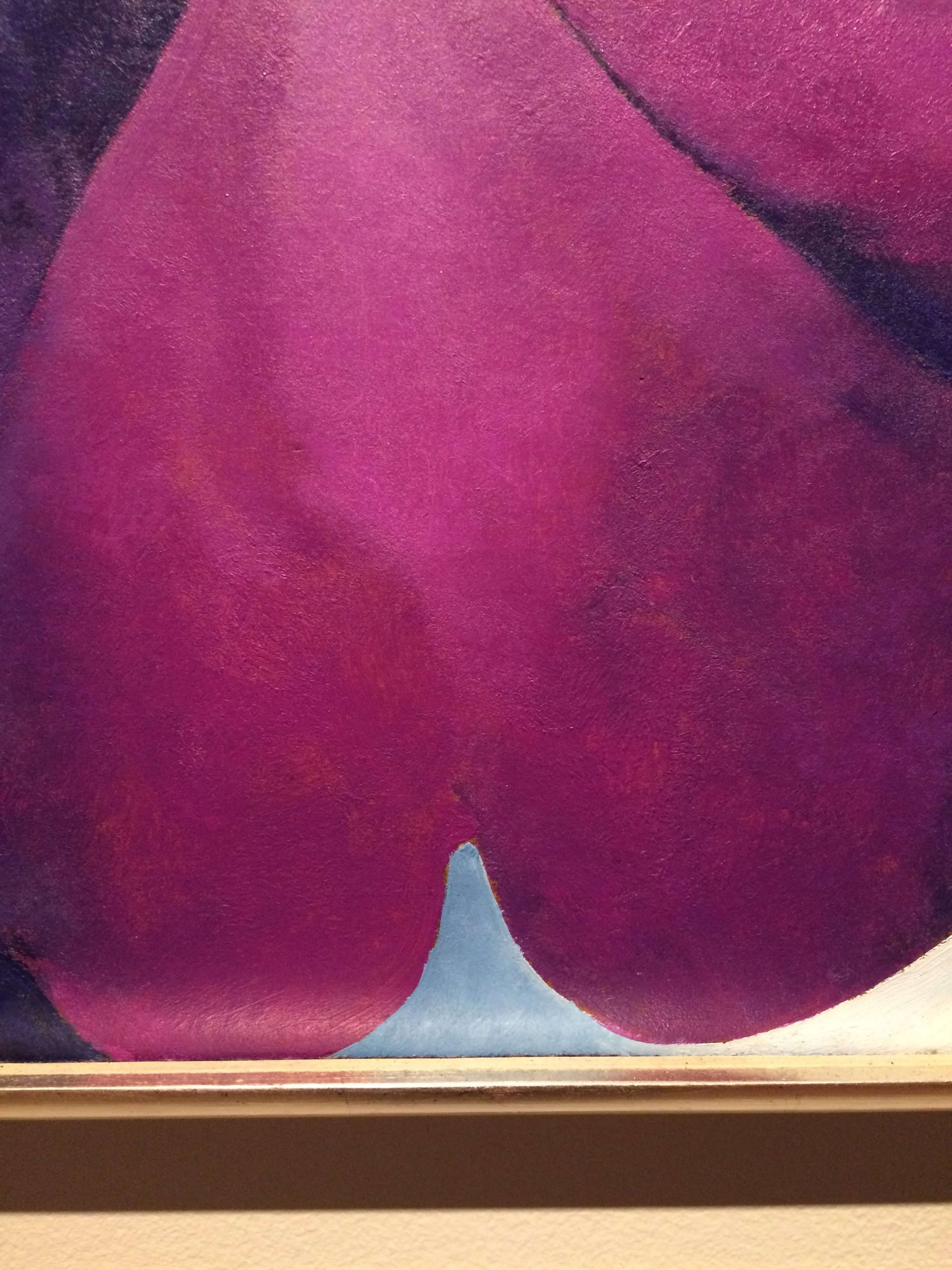 Recently went to the De Young museum in SF where they have one of her Petunias paintings. Her brushwork is incredible!