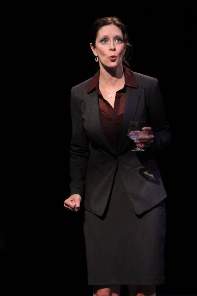 "Angela Miller in ""The Last Resort"" (Globe Theatre)"