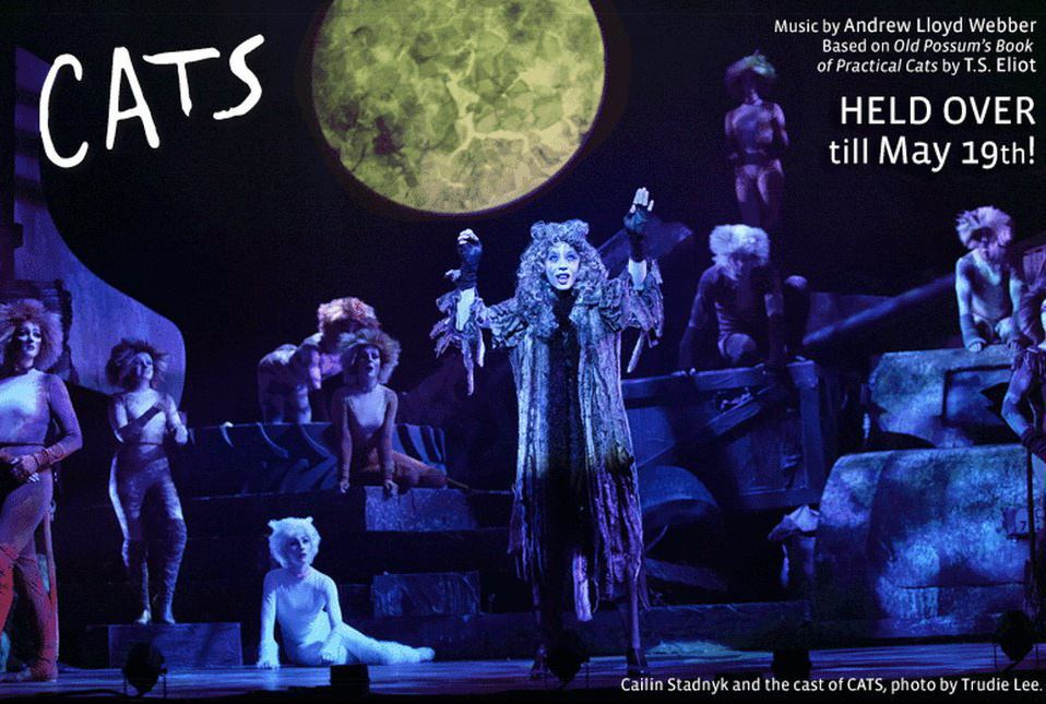 """Grizabella in """"Cats"""" (Theatre Calgary).  *Photo by Trudie Lee"""