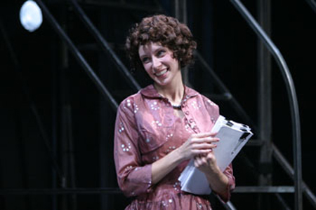 """Hope Cladwell in """"Urinetown the Musical"""" (The Belfry Theatre)  *Photo by Tim Matheson"""