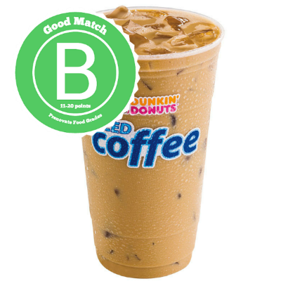 #3 Dunkin' Donuts Small Iced Coffee (Sweetened/No Cream)