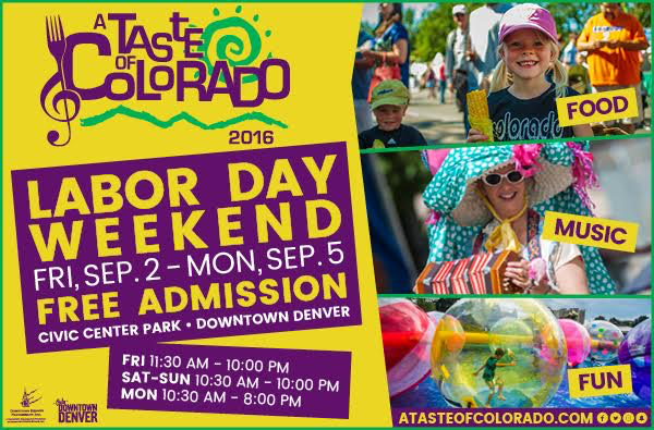 I am so excited for the Taste of Colorado this year! The music line up is great!   Friday night is Big Bad Voodoo Daddy  Saturday night is Boyz II Men  Sunday night is Blues Traveller  I'll be reliving the 90s on Labor Day weekend. Hope to see you there!