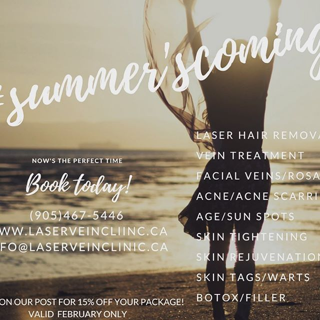 Days are getting longer...Summer's on the way!  Now's the best time to do your treatments! (905)467-5446