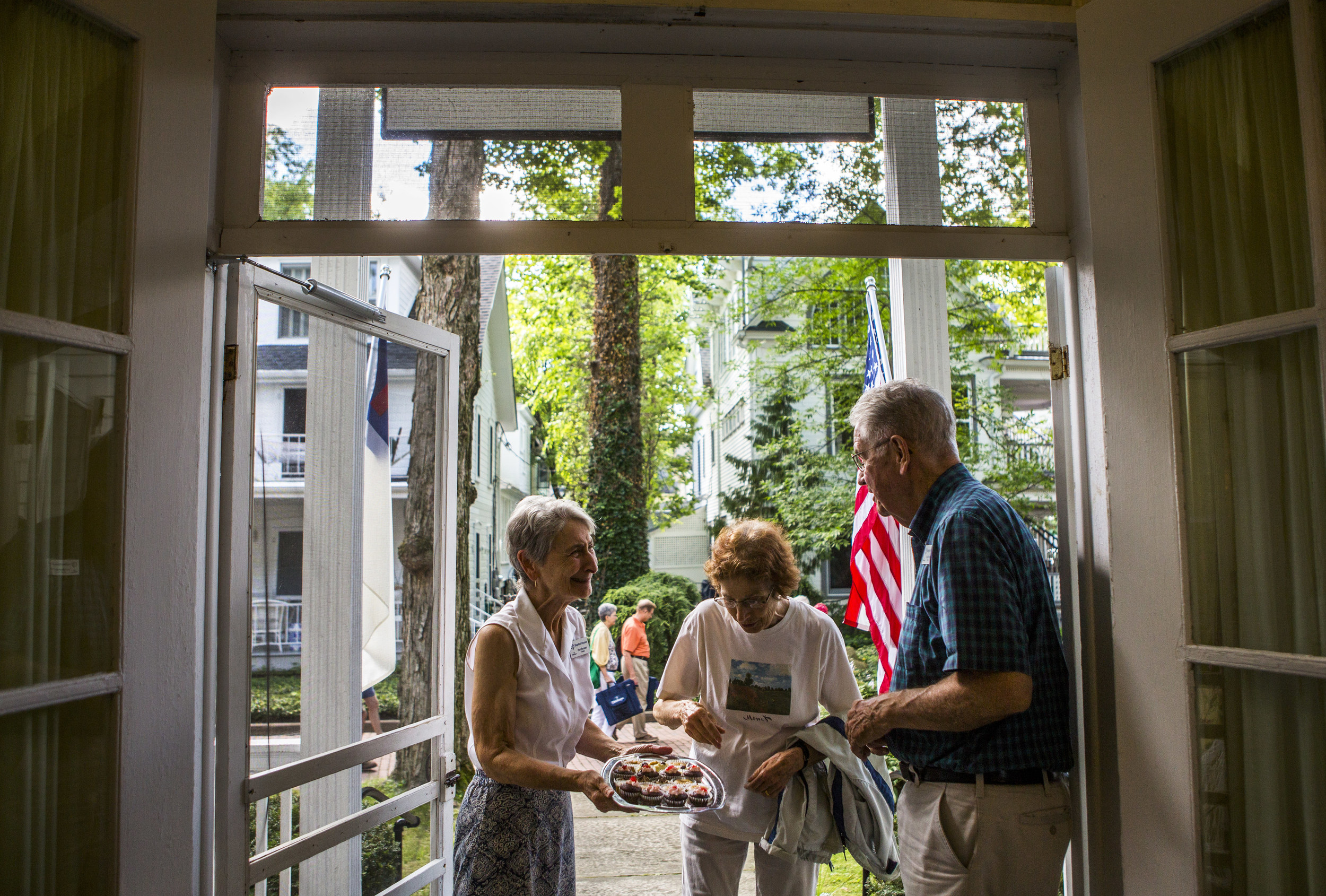 Bud and Pat Brown have been the hosts of the Baptist House in Chautauqua Institution for the past nine years. They have been staying in the Baptist House every since they started coming to Chautauqua in 1977.