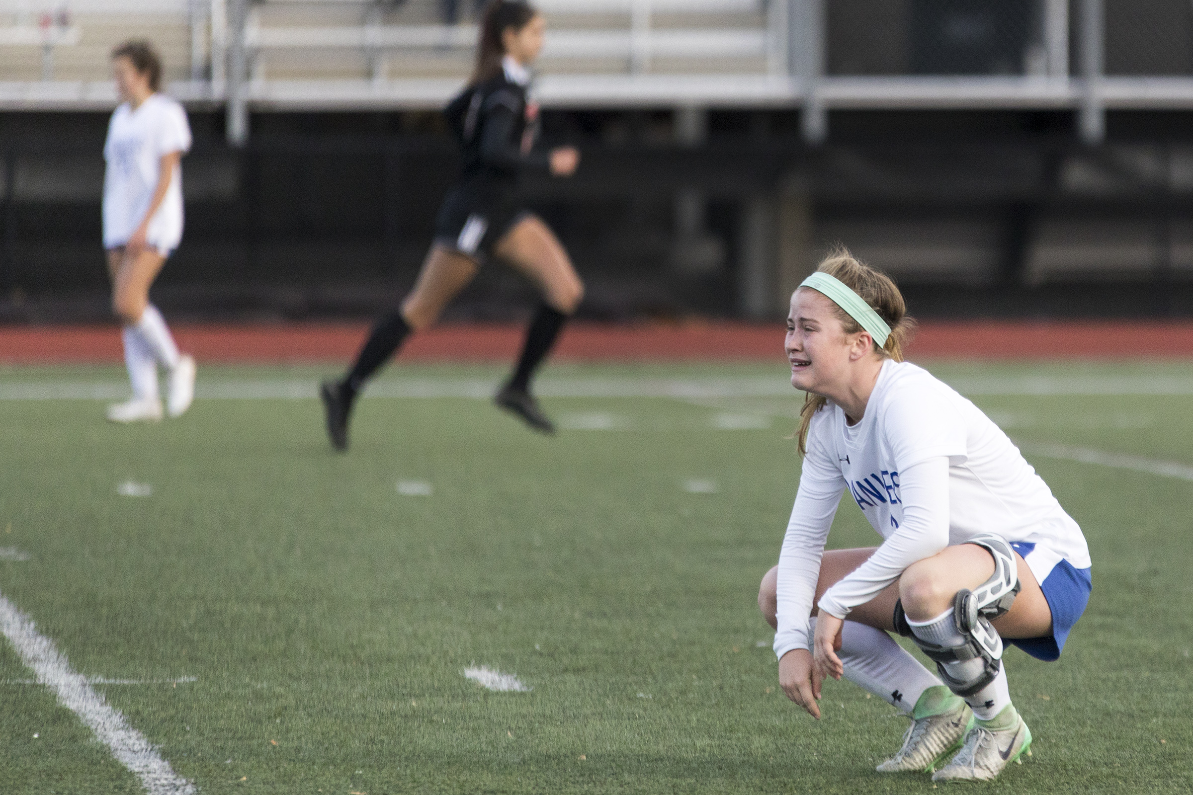 Danvers senior captain Lauren Clement reacts to losing the Division 2 North final game against Winchester, 3-1, at Manning Field in Lynn on Nov. 12, 2018.