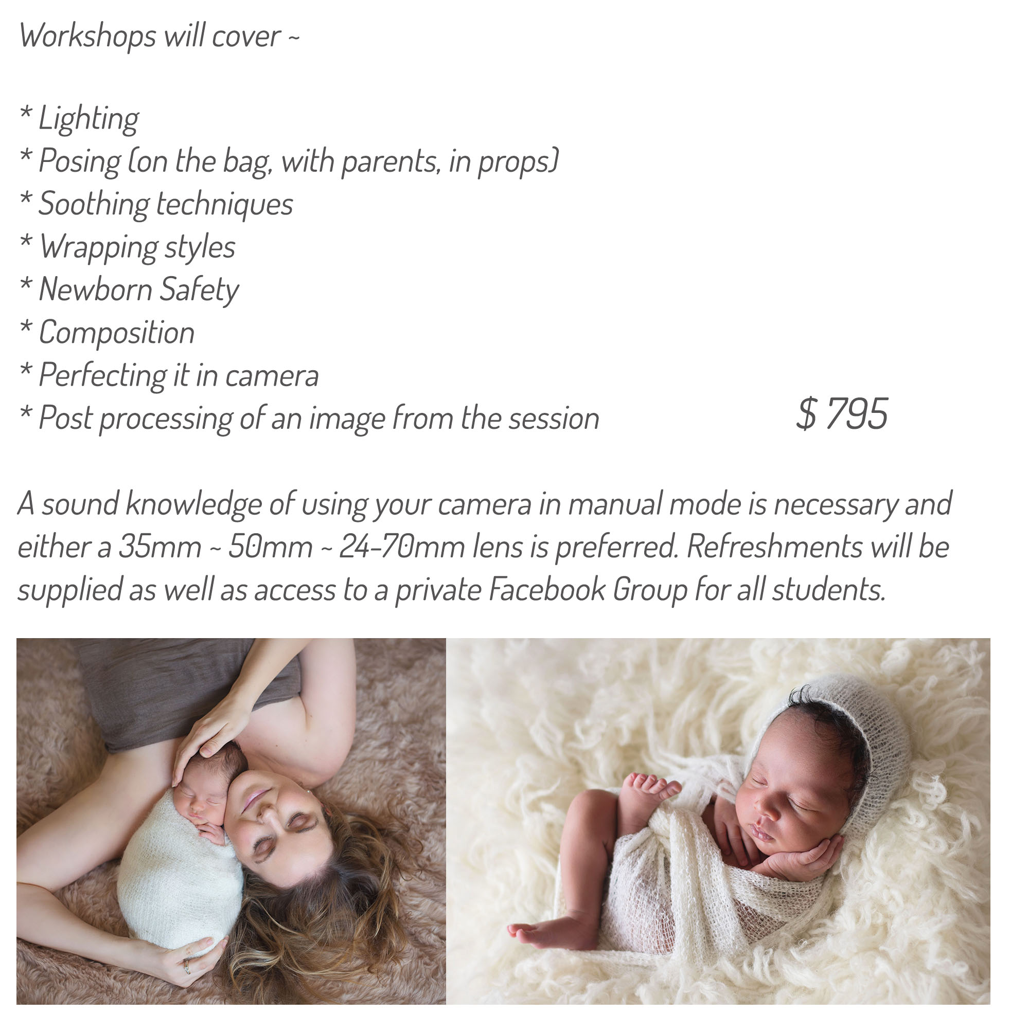 gold coast newborn baby photography workshops mentoring haylie d photography