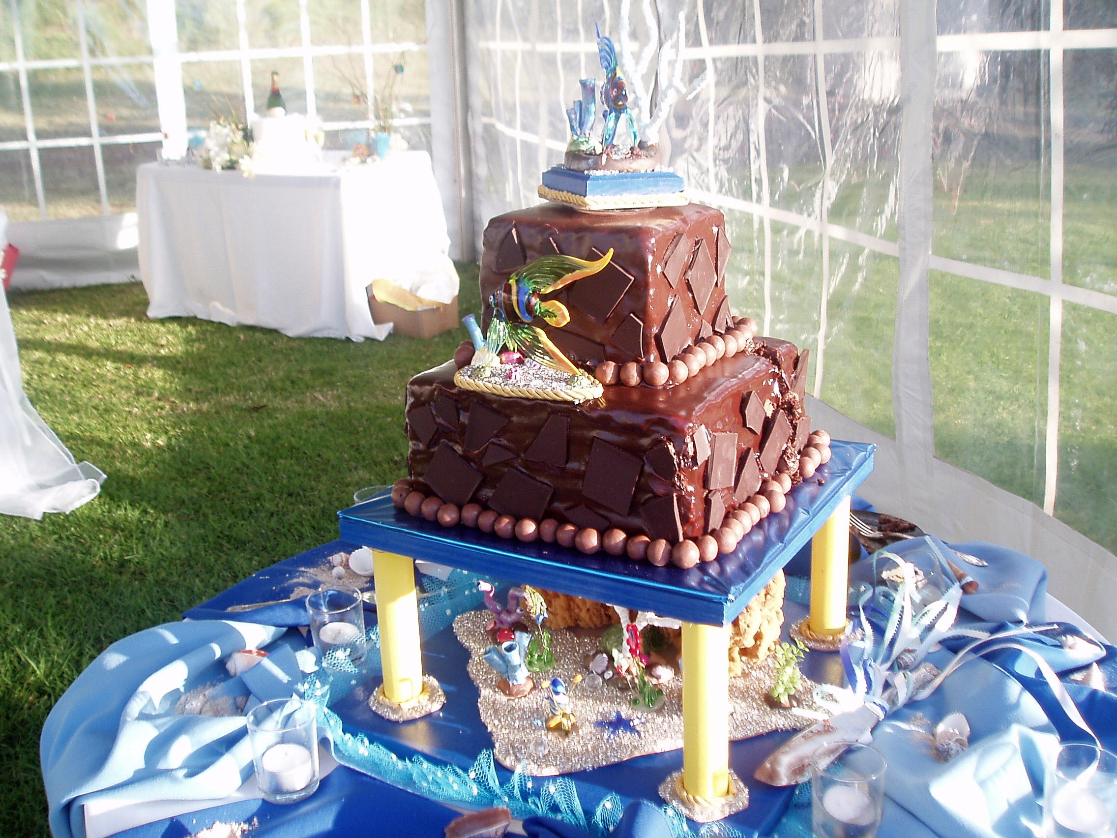 Deluxe cake for an adventurous couple!