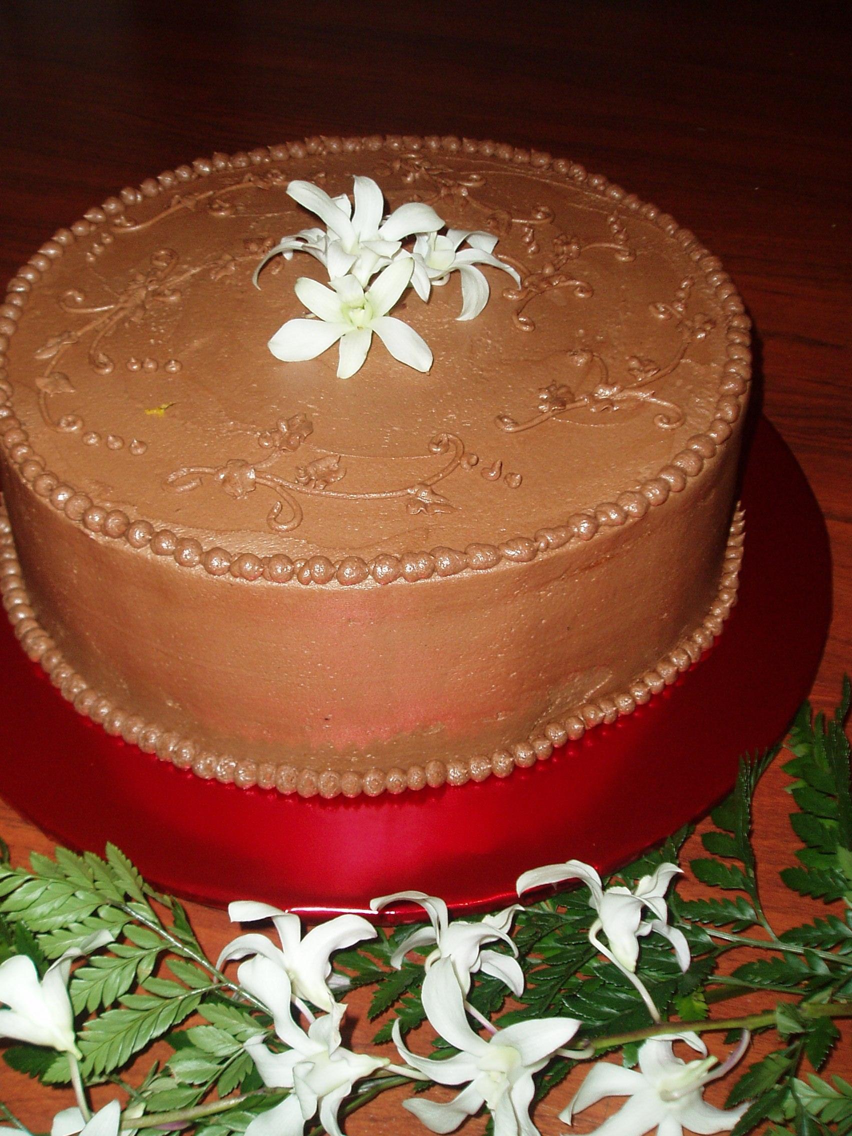 Chocolate frosting cake.JPG