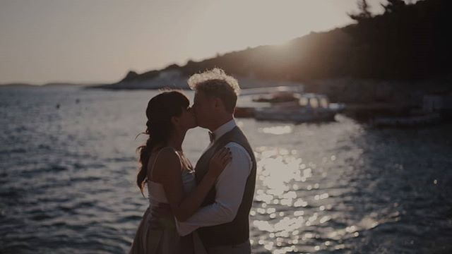 VIDEOSTILL  One of the nicest places I visited this year: Hvar, Croatia. Only to capture and feel the love of my friends @mashabakkerphotography  and Ronald ❤  @sonyalpha  @letimweddings  @best_day_ever_events  @bakmeisje  @lauravanrooijbridalcouture  @rietbergh  @fleurpietersebeautycare  #wedding #weddingfilm #bride #croatia #hrvatska #hvar #cinematography #videostill #videography #beach #sunset #videograaf #bruiloft #trouwen #trouwfilm #trouwenin2019 #sonyalpha #a7sii #sayyes