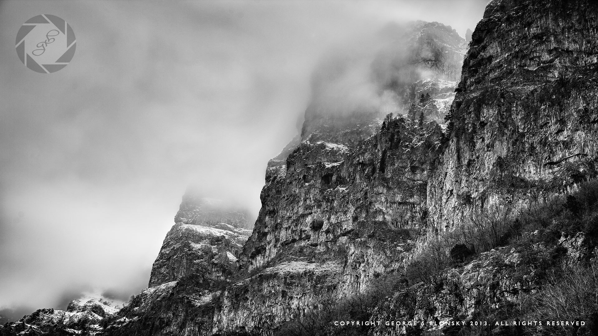 Photograph of Mount Tymfis made during one of our winter landscape photography workshops to Meteora and Western Epirus