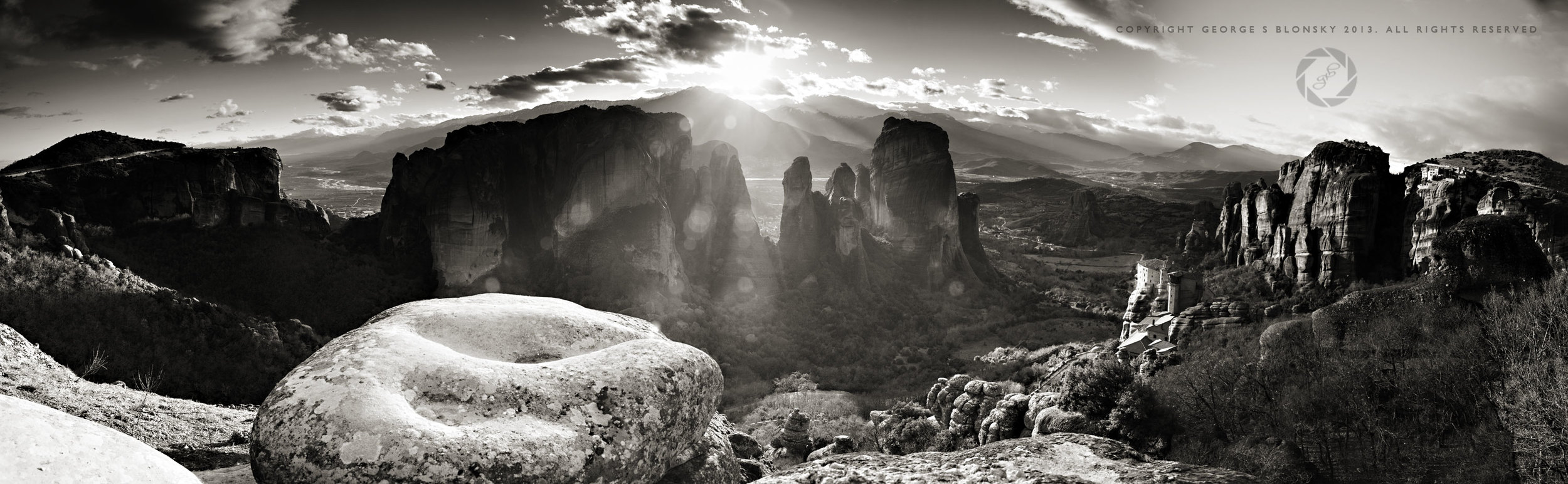 Panoramic of the Meteora