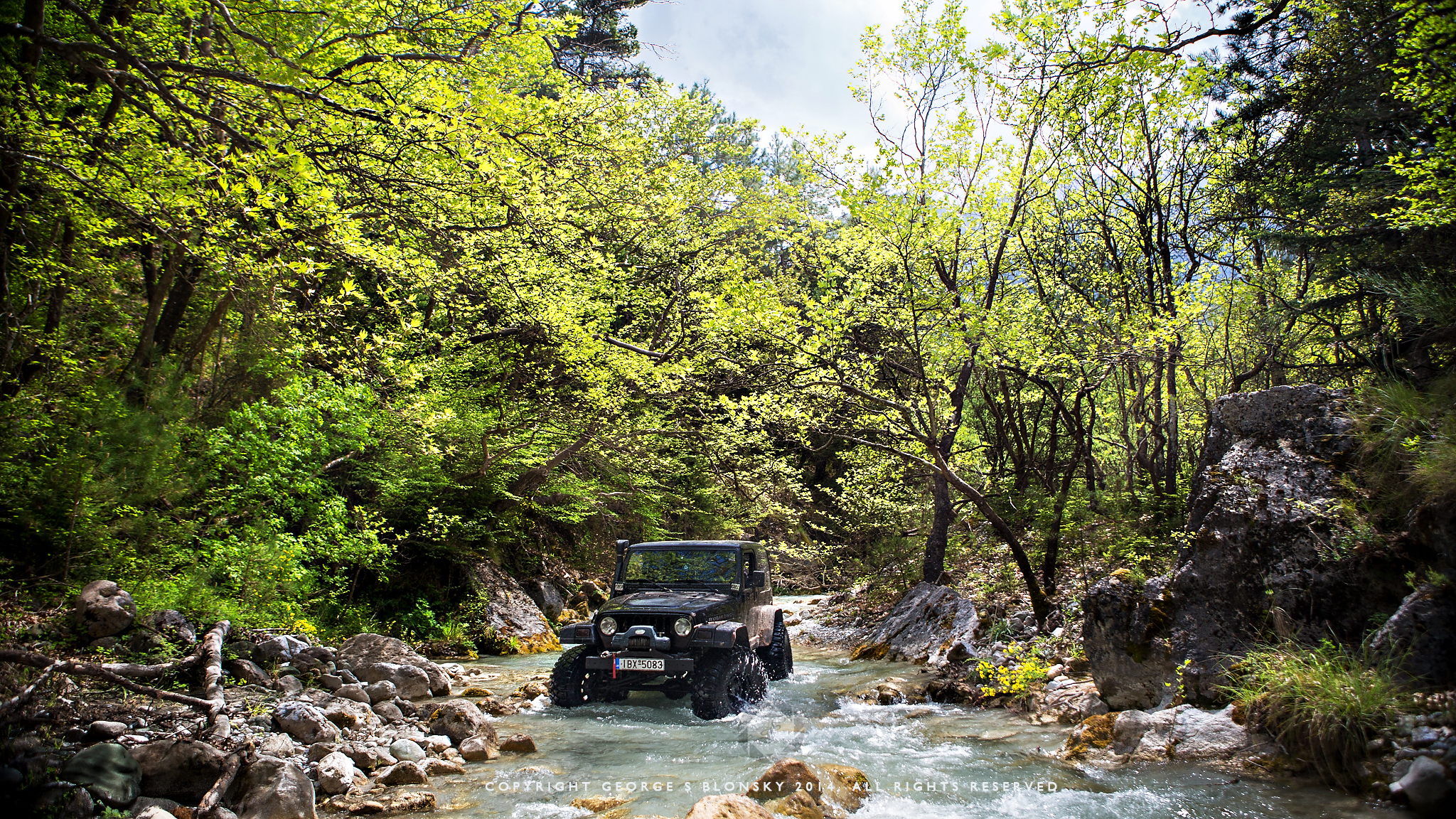 Our pathfinder Panos tests out a stretch of river before all commit to the river...