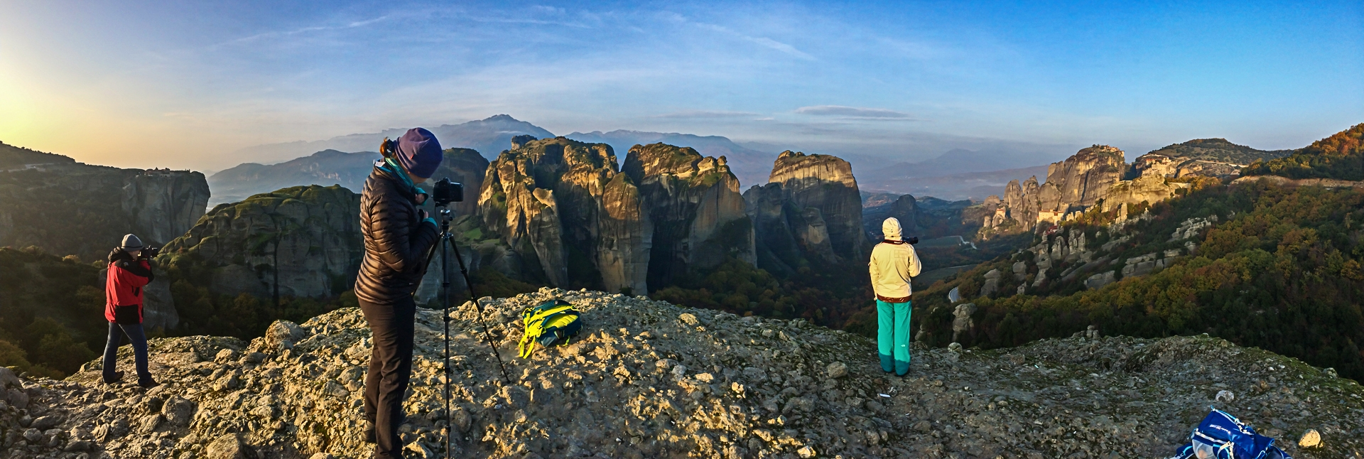 Photographing Dawn over Meteora