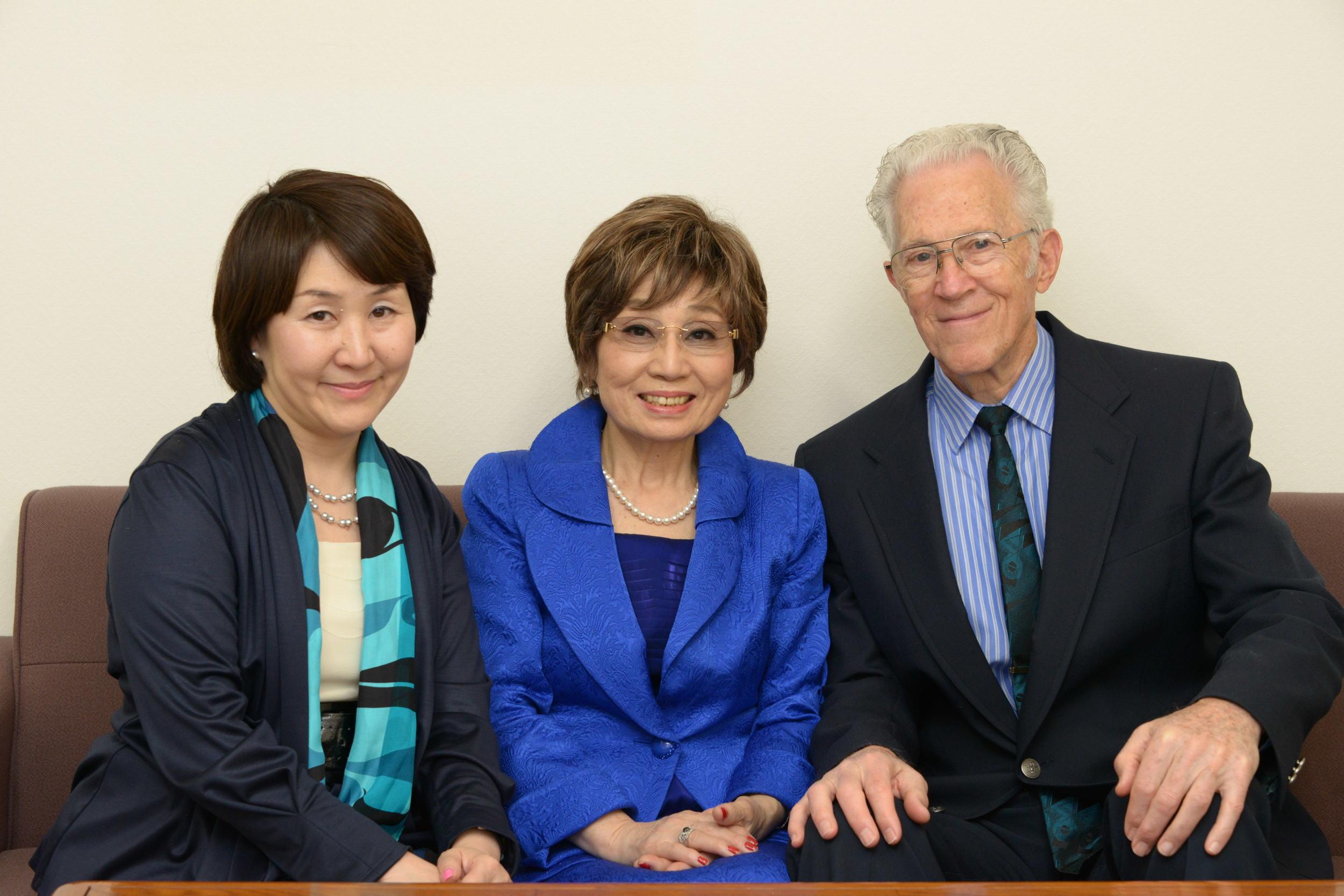 from left: Midori Daikuhara (President), Masumi & Ray Ormandy (Founders of PLS)
