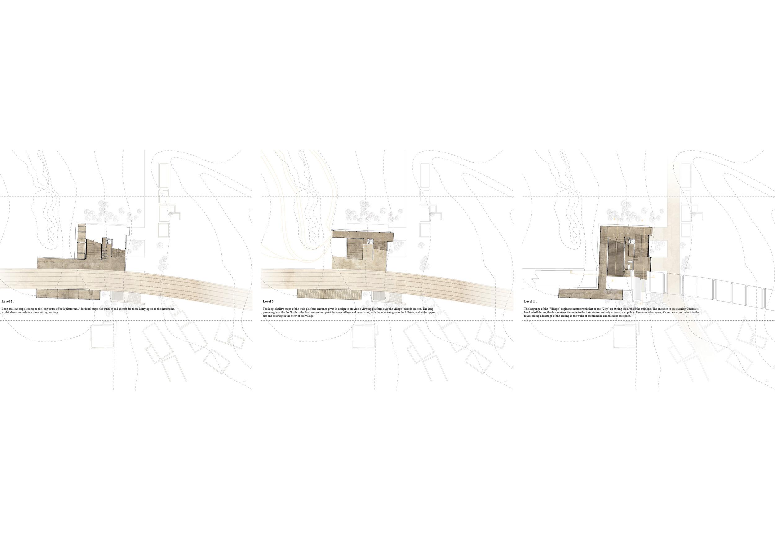 site plans : level 3, level 4, level 5