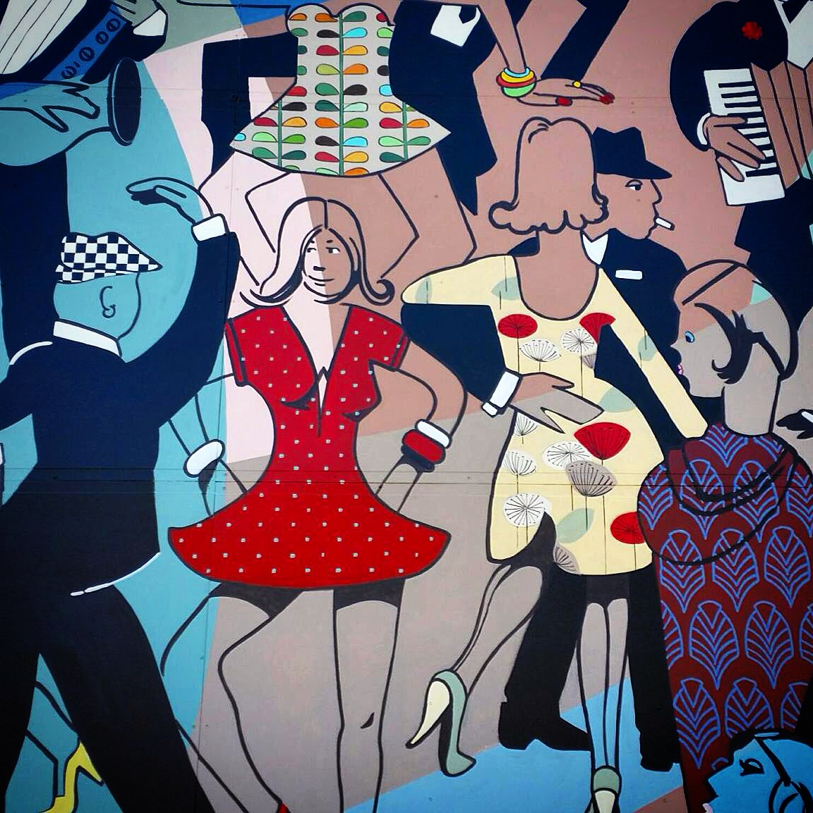 Detail from the Perfect Match mural for Camelot Lounge in Sydney's Marrickville.