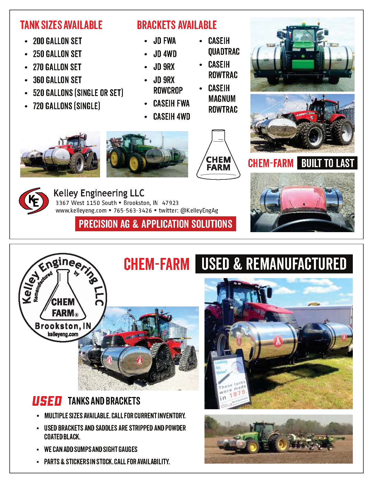 Chem-Farm New and Used Postcard
