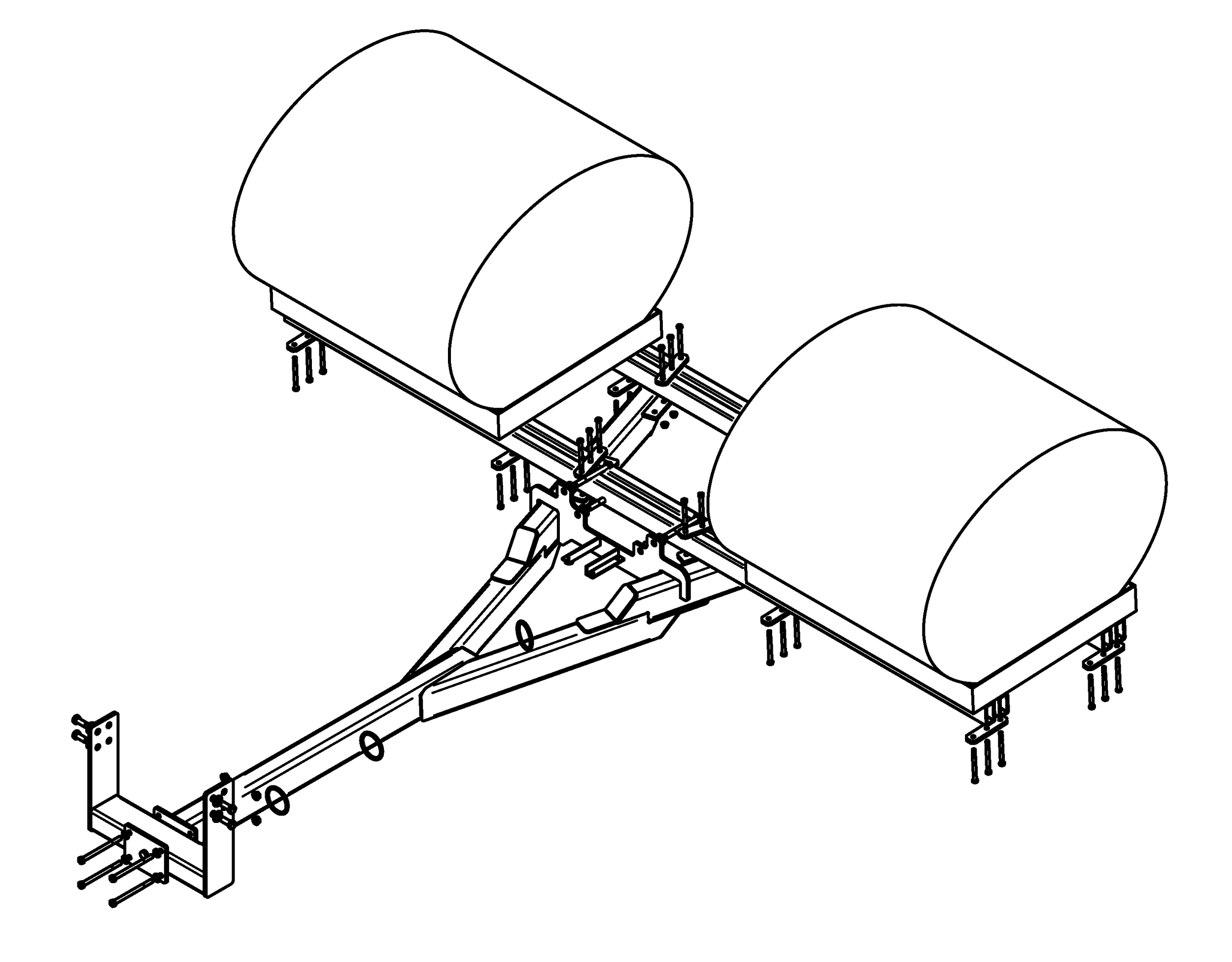 JD Y2 - Fits 8x20 thru current 8xR Series. The belly bracket fits the prior powershift, the current M23 powershift, and the IVT. Small modification required for 20 series solid axle tractors.