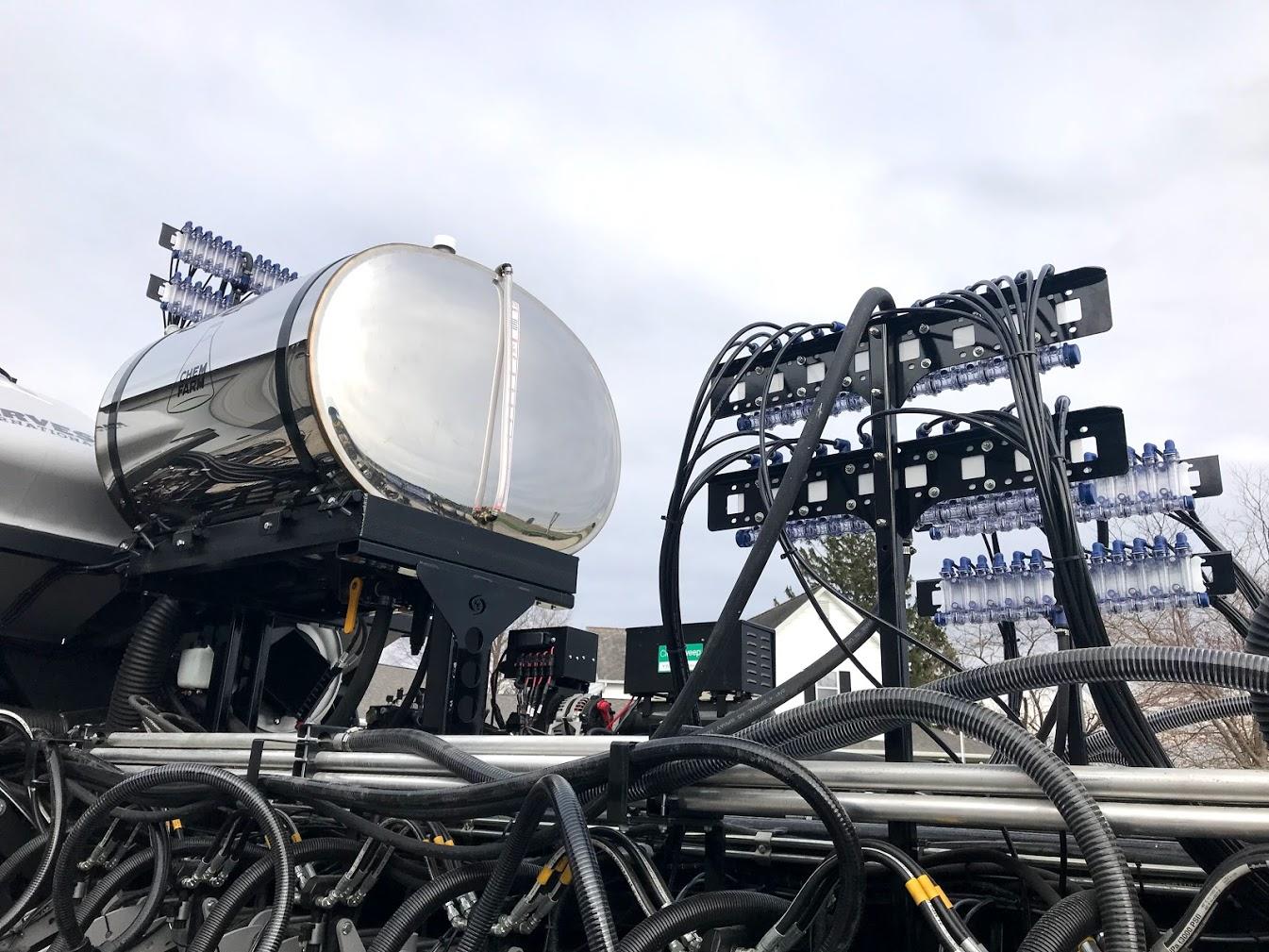 360 gallon planter tank and dual product monitoring