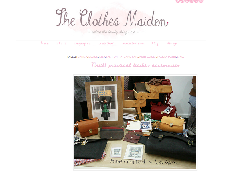 The Clothes Maiden. March 14'