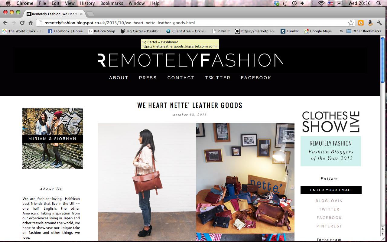 Remote Fashion. October 13'