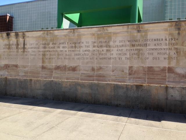 Memorial at Ashworth Pool