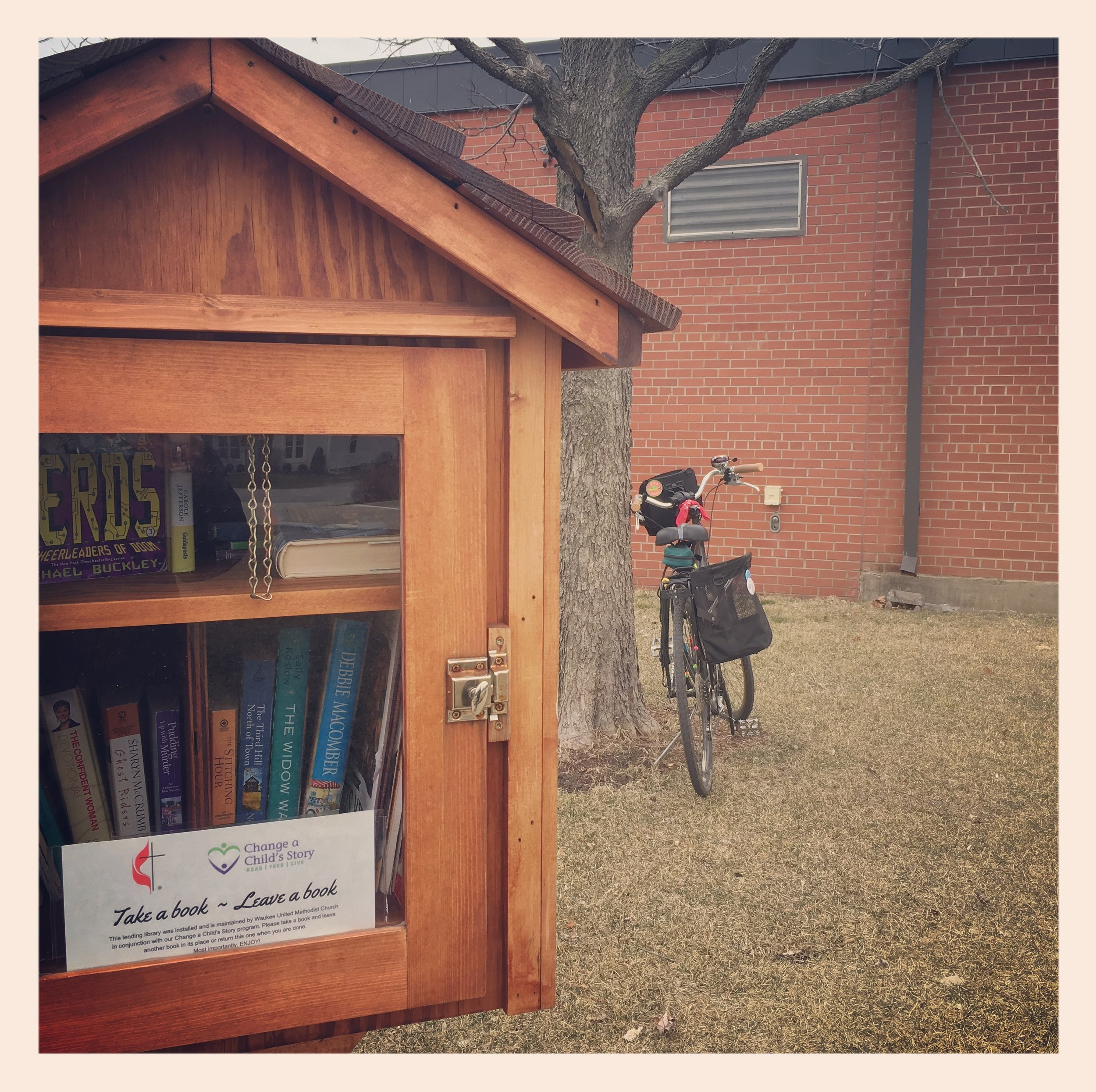 Day 2:  Donated some books to the local little library.