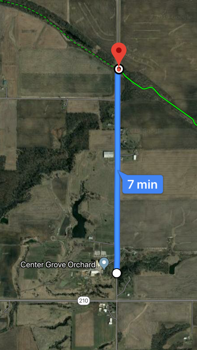 7 minutes isn't much of a detour!