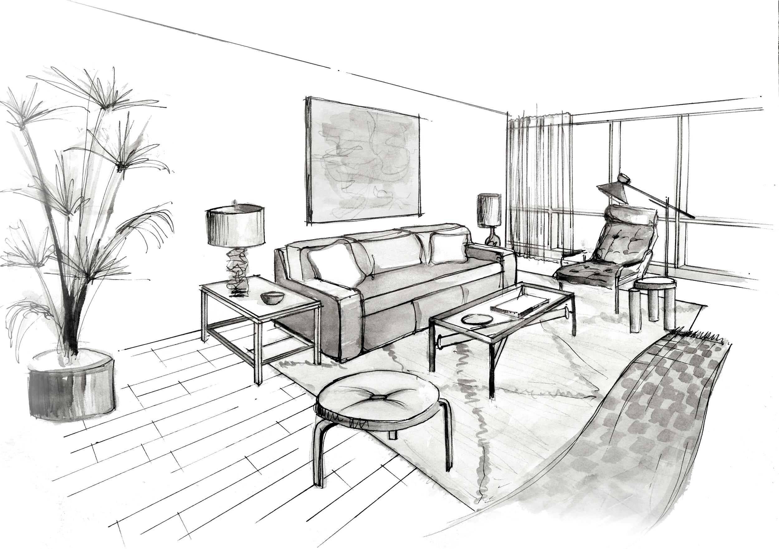 nicholas obeid interior design washington dc sketch