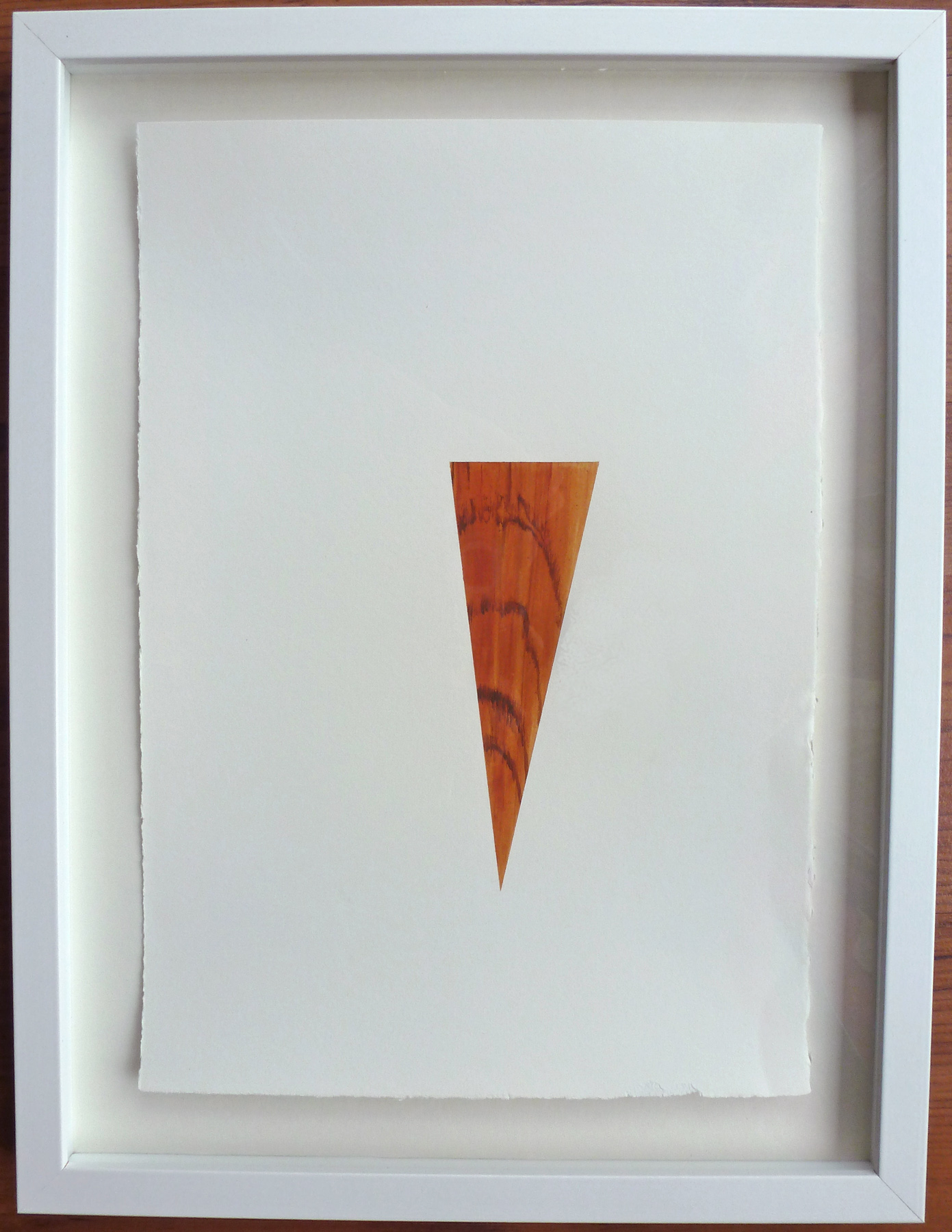 "Teak #2 , 2013, acrylic on paper, 12.5"" x 16.5"" (framed)"