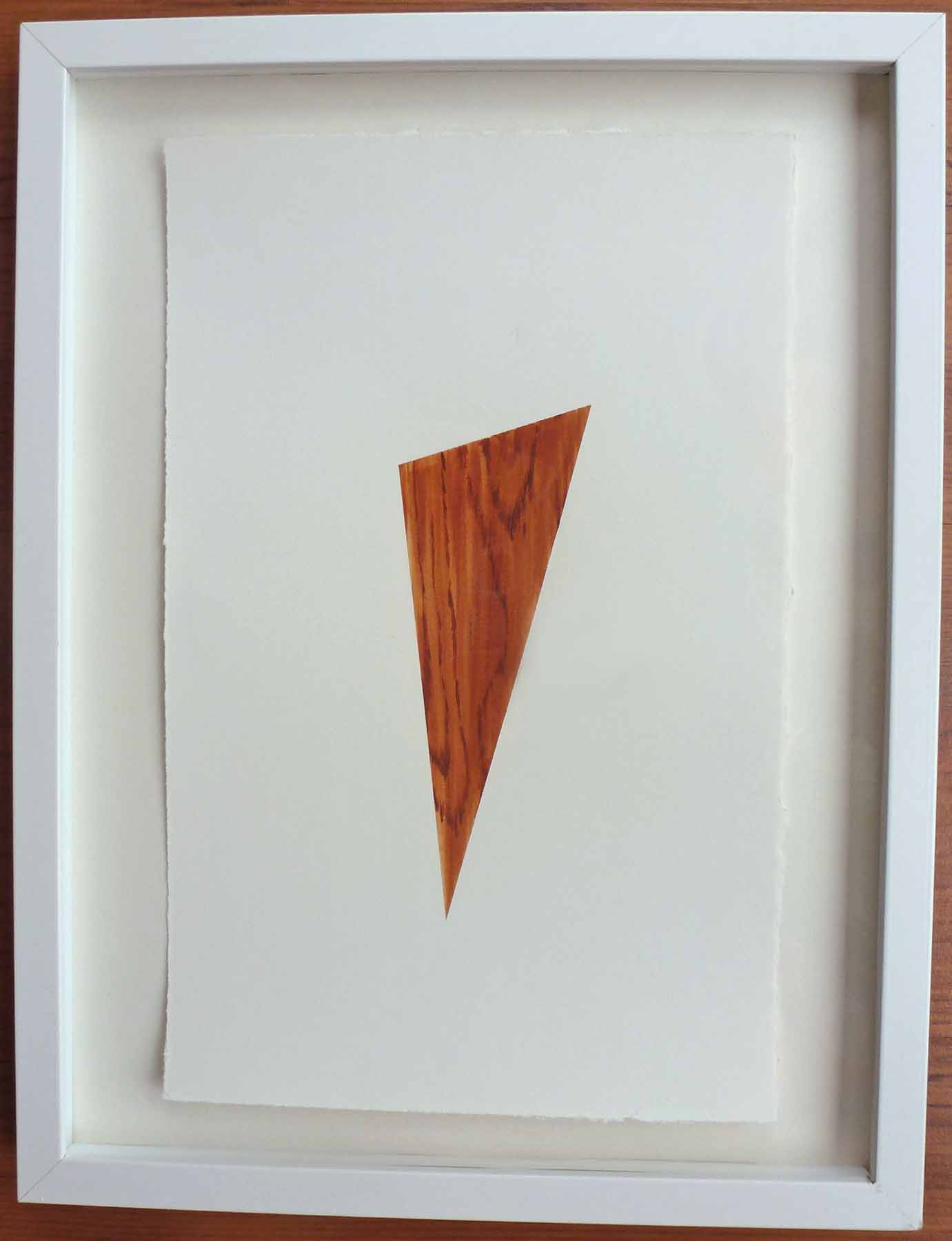 "Teak #3 , 2013, acrylic on paper,12.5"" x 16.5"" (framed)"